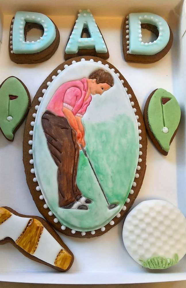 Father's Day Golf Cookie Set