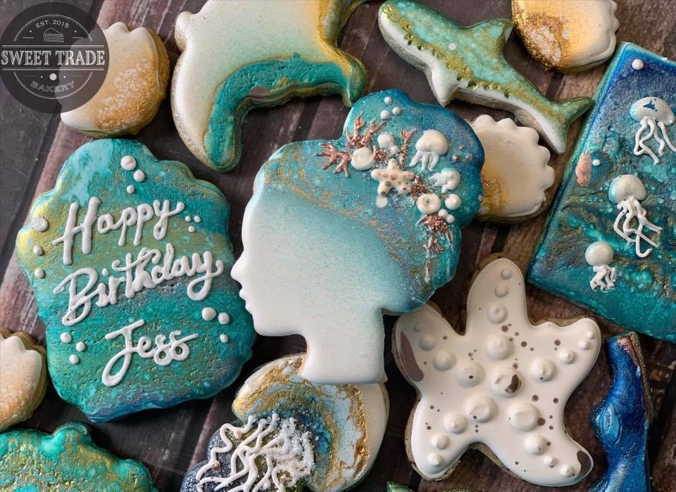 Ocean Life Birthday Cookies