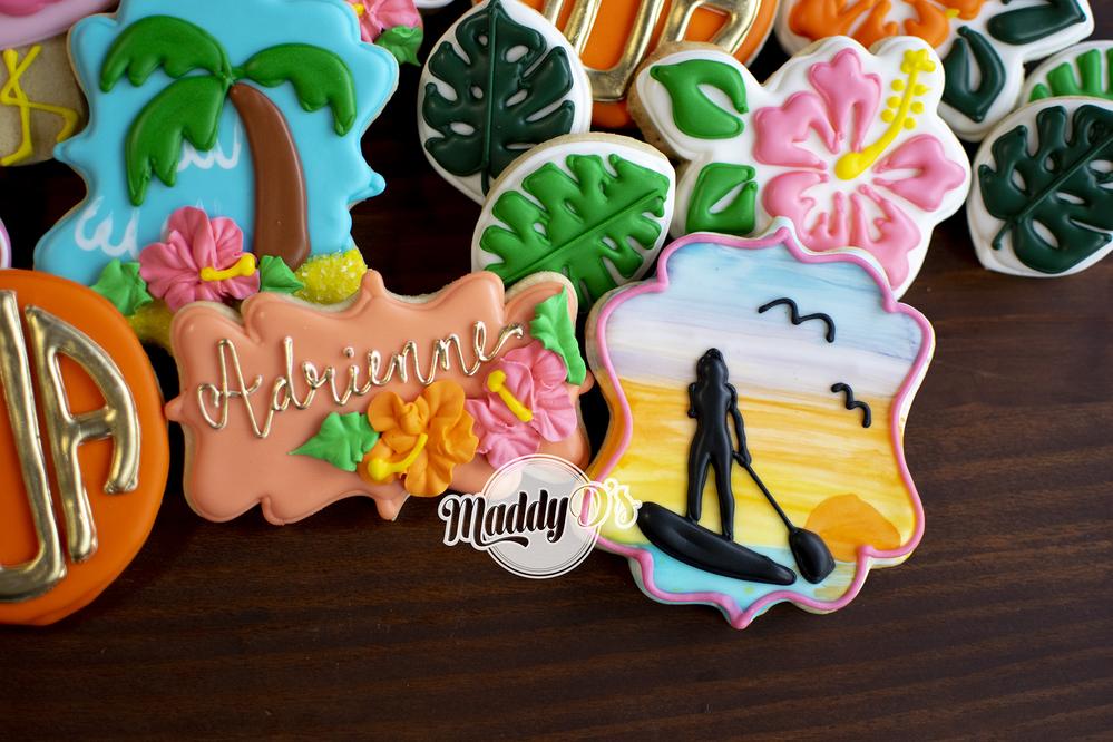 Birthday Paddleboard Cookies