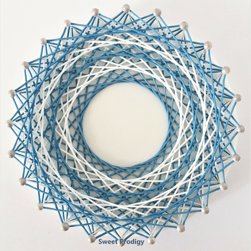Blue and White String Art | Sweet Prodigy