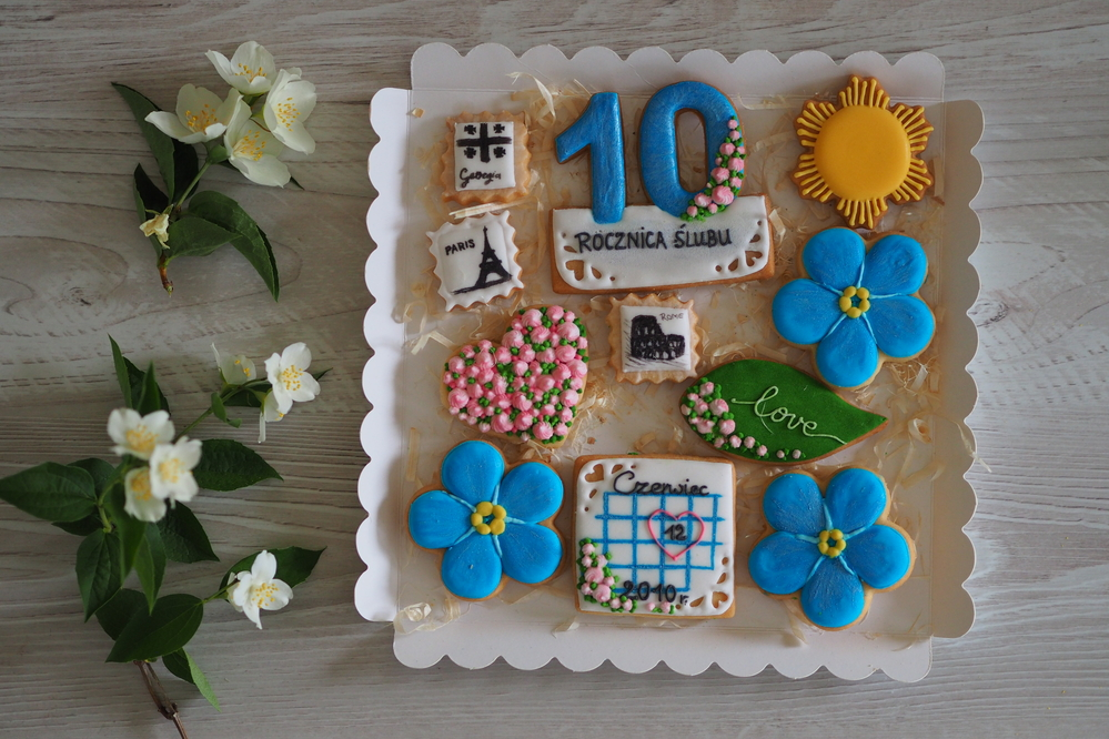 Wedding Anniversary Cookies (Szalony Cukiernik)