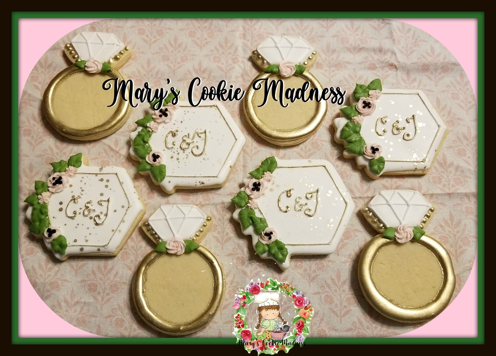 Hexagons and Rings for Bridal Shower
