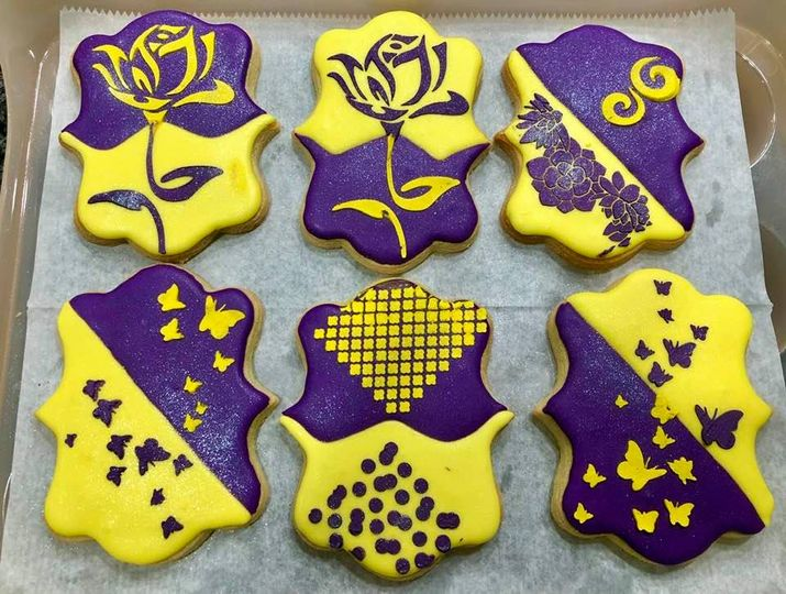 Purple and Yellow Cookies