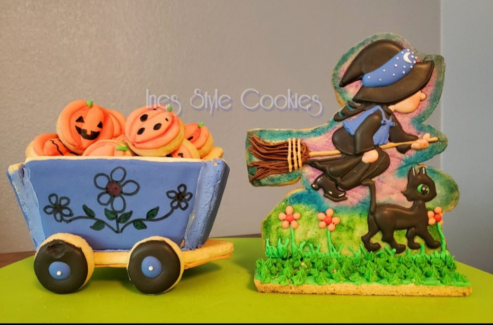 Witch and Mini Pumpkins