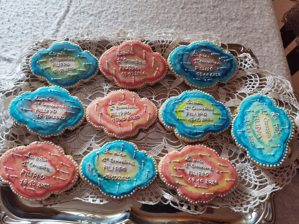 Watercolor Communion Cookies