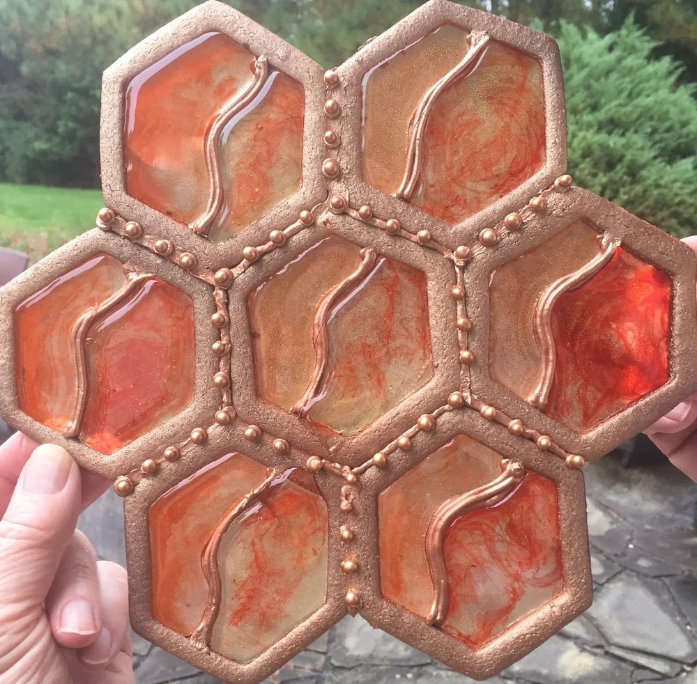 Stained Glass Hexagons