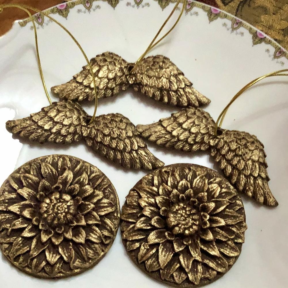 Gold Chocolate Cookies & Angel Wing Ornament Cookies