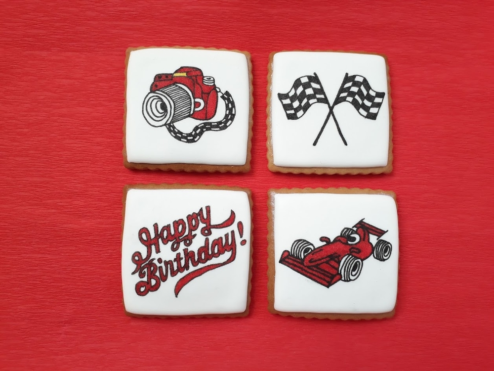 Formula One Birthday Cookies