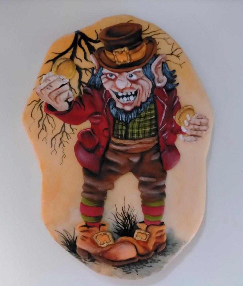 Handpainted Halloween Ghoul