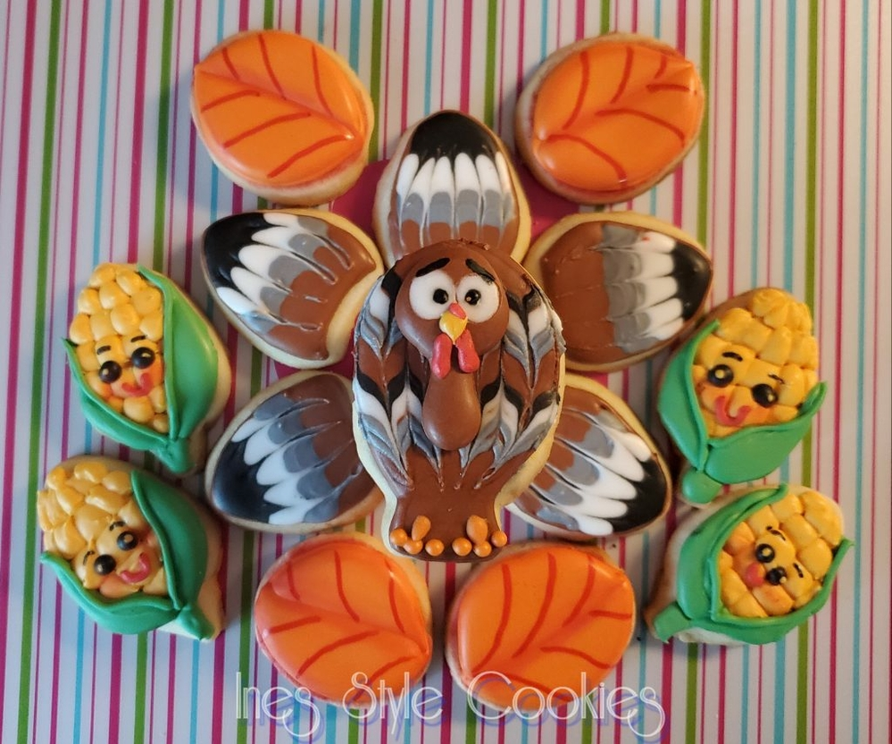Thanksgiving Mini Cookies - Another View