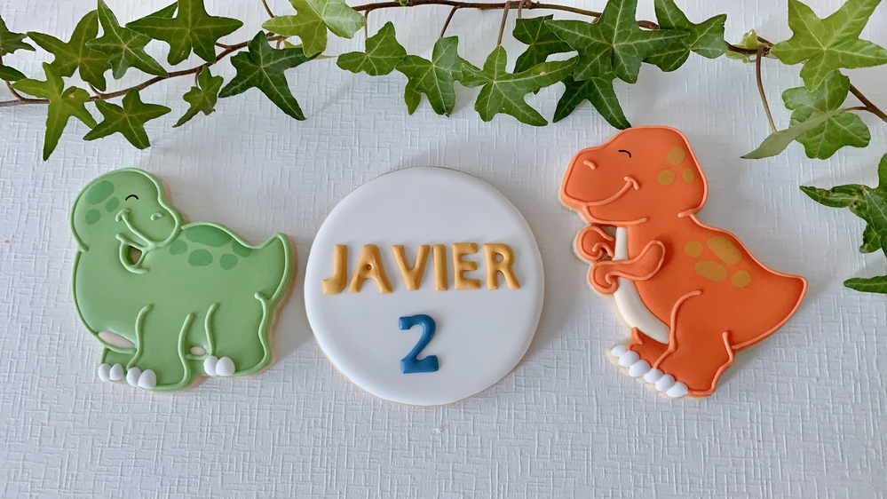 Dinosaur-Themed Birthday Cookies