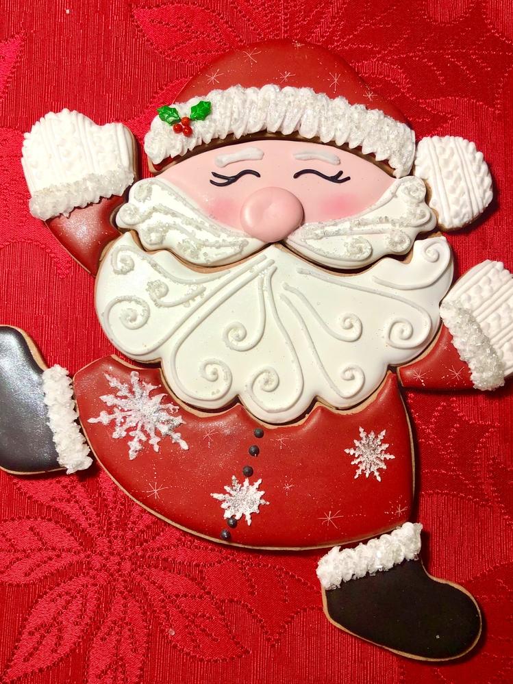 Santa Puzzle Cookie