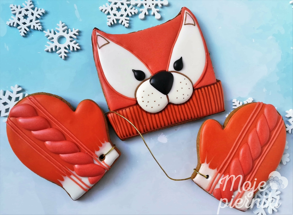 A Fox Hat and Mittens