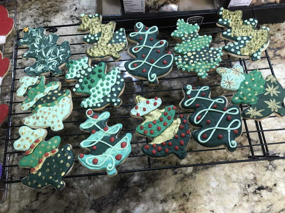 Textured Holiday Trees