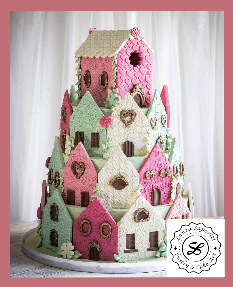 Cookie Village Cake - A Shortbread Tale by Laura Saporiti