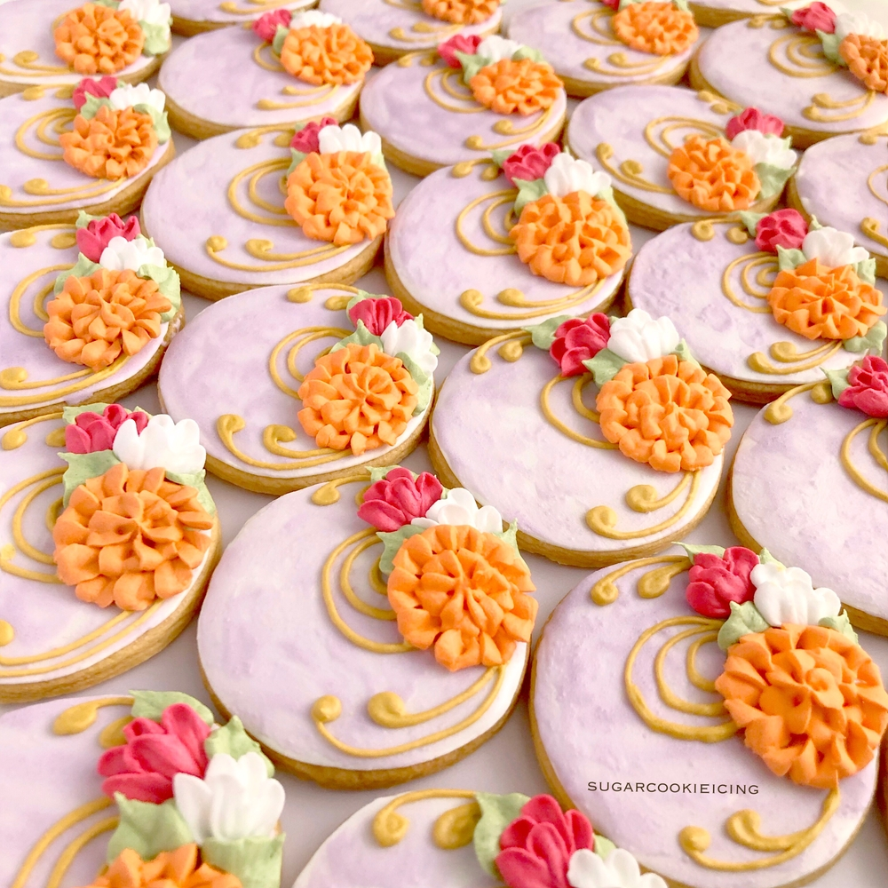 Decorative Pattern with Pompoms