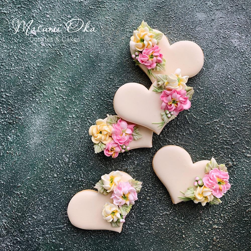 Floral Heart Cookies