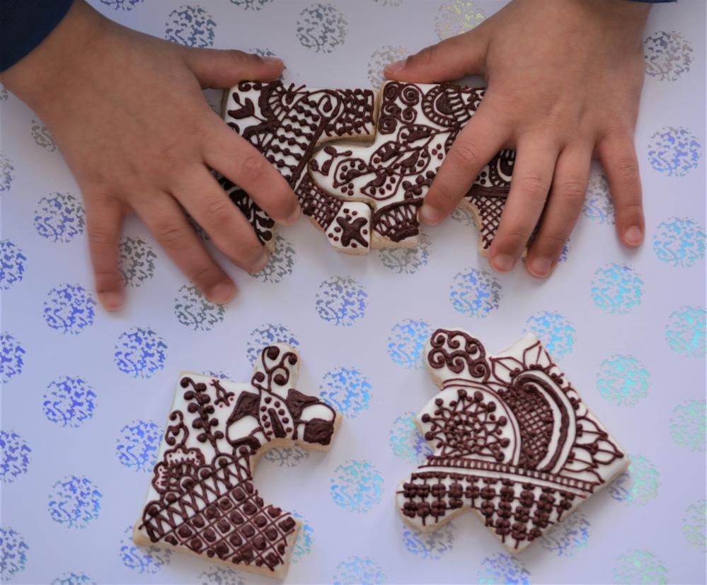 Mehndi Puzzle Cookies - View #2