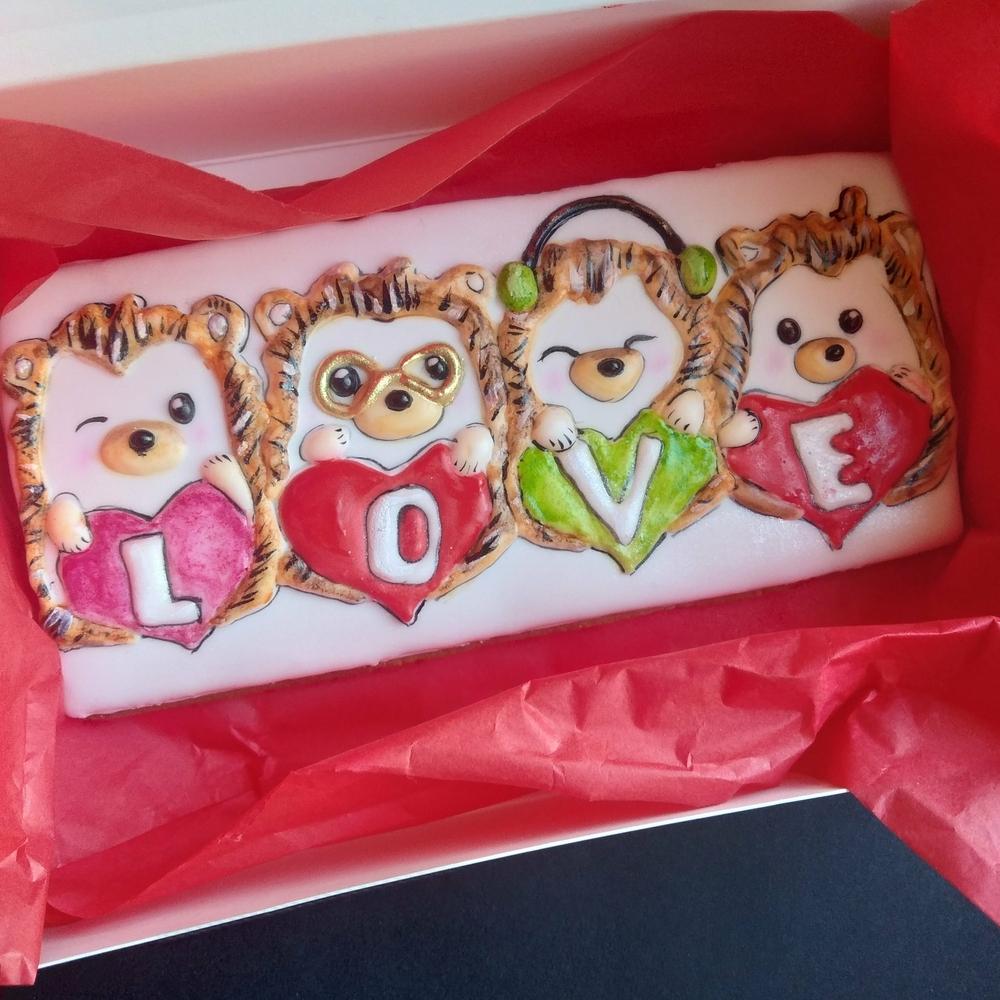 Valentine's Hedgehogs in Love