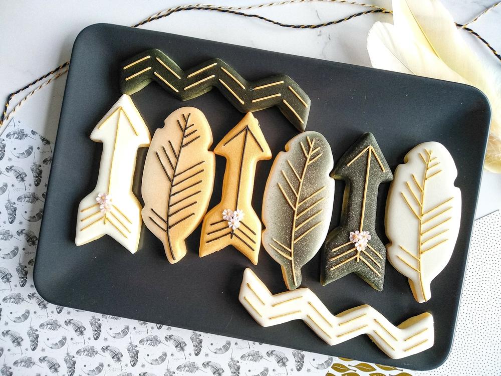 Black and Gold Boho Platter
