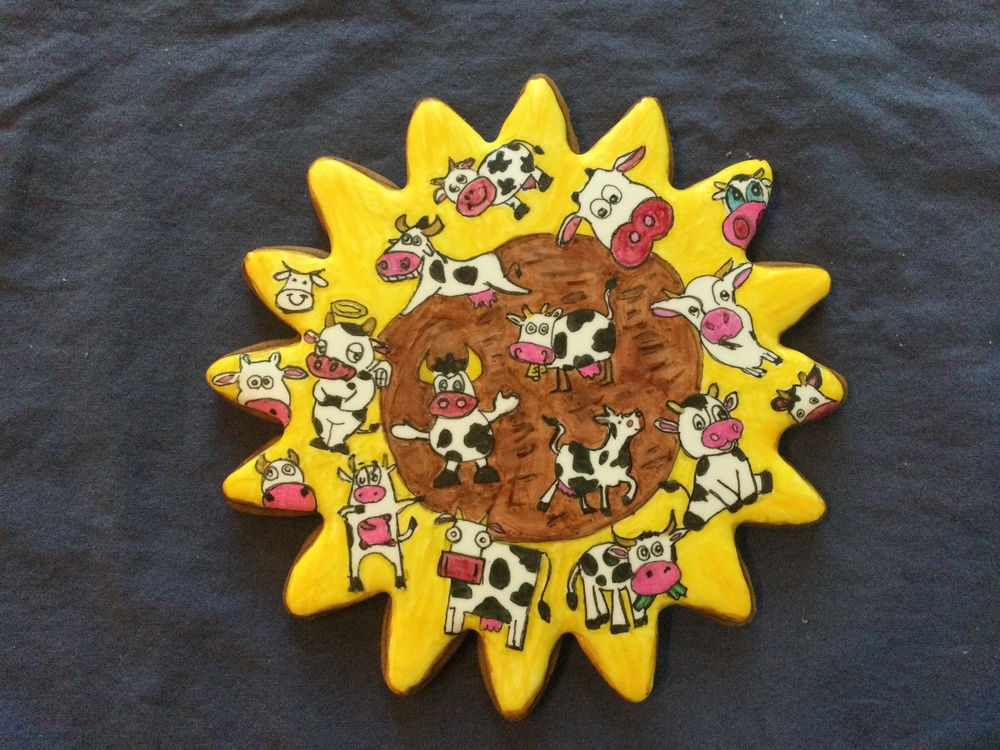 Sunflower and Cows