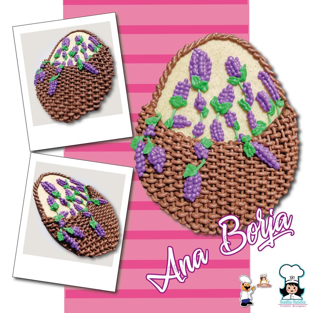 Easter Egg Basket of Flowers