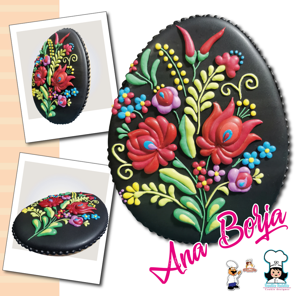 Easter Egg with Hungarian Embroidery