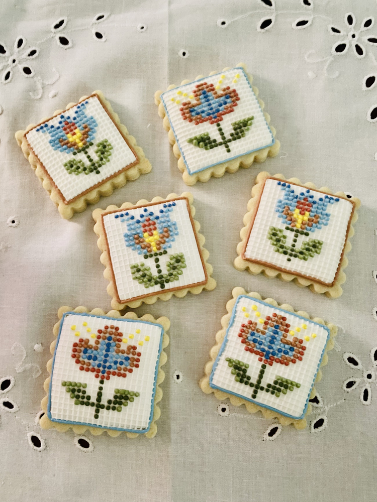 Cross-Stitched Cookies