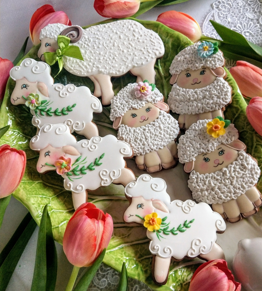 Owieczki i Baranek Wielkanocny (aka Sheep and the Easter Lamb)