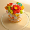 Easter cake with flower cookies by Goloven Olga