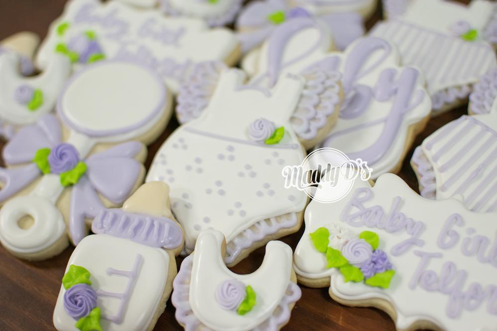 Baby Lavender Shower Cookies