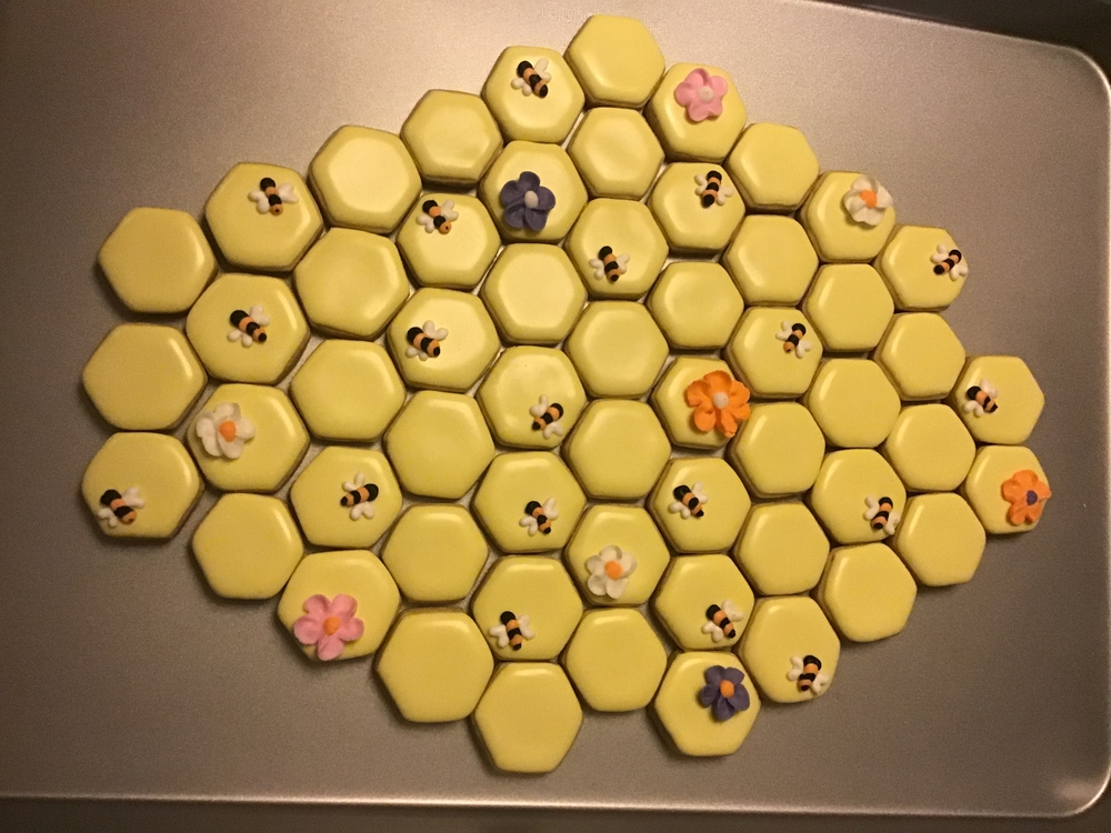 Honeycomb, Bee, and Flower Platter