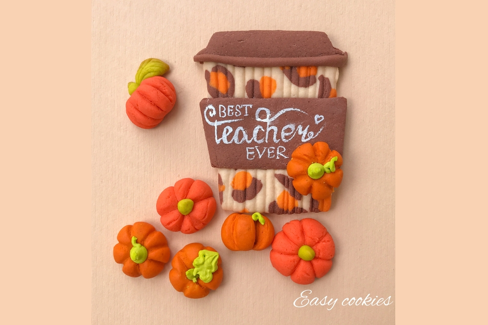 Fall Coffee and Pumpkins by Olga Goloven