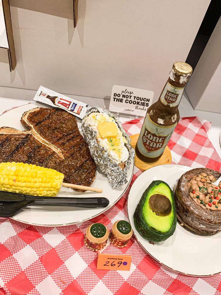 Steak Dinner and Avocado Appetizer