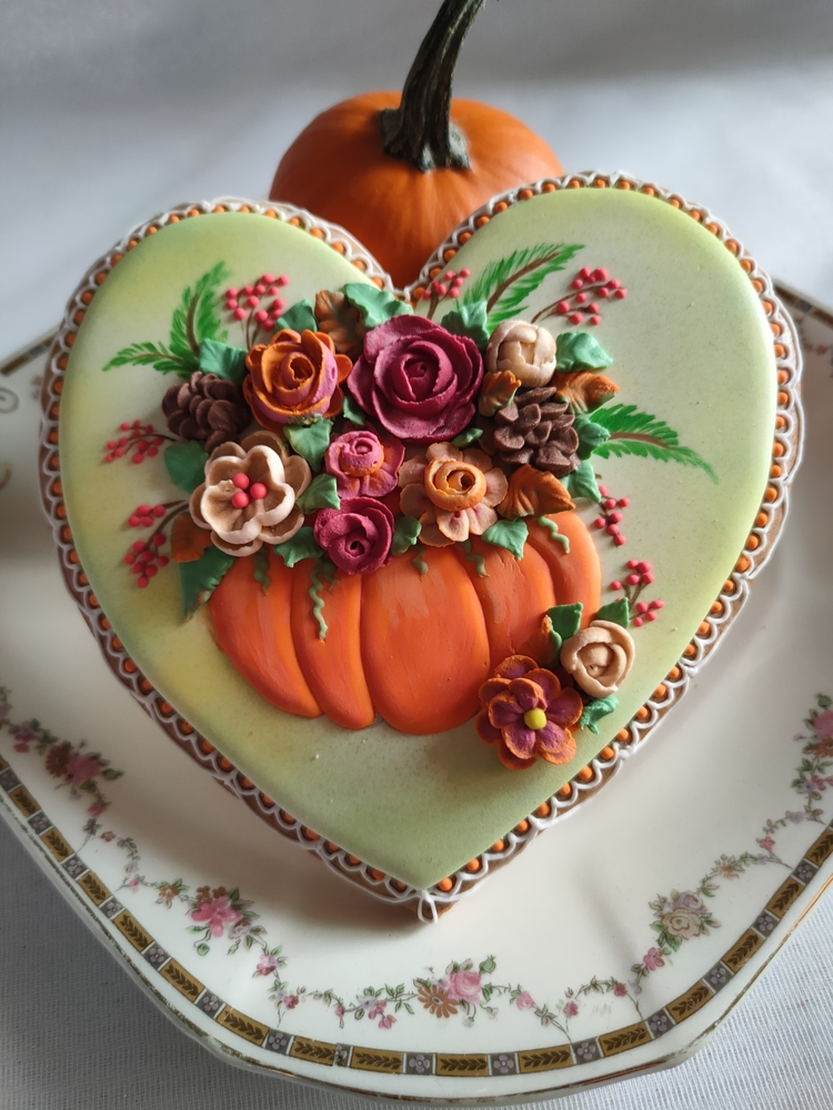 Autumn Bouquet on Heart